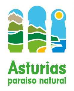 Logo de Asturias paraíso natural en color